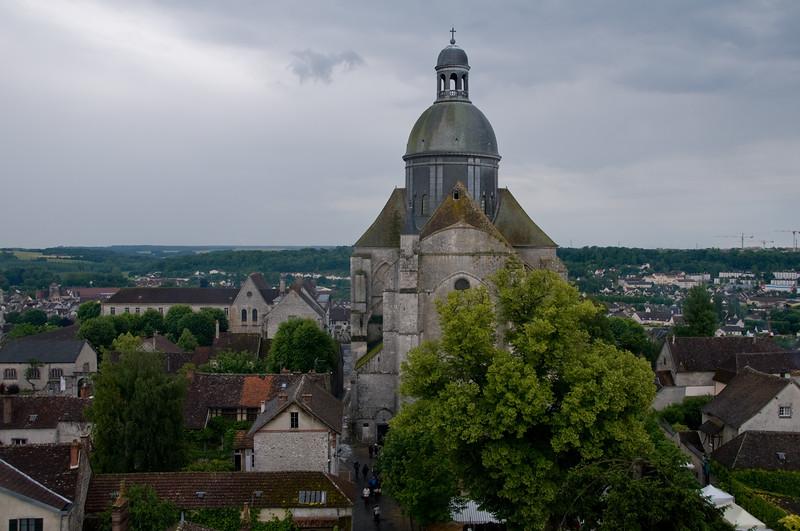 Eglise de Provins vue depuis la tour cesar