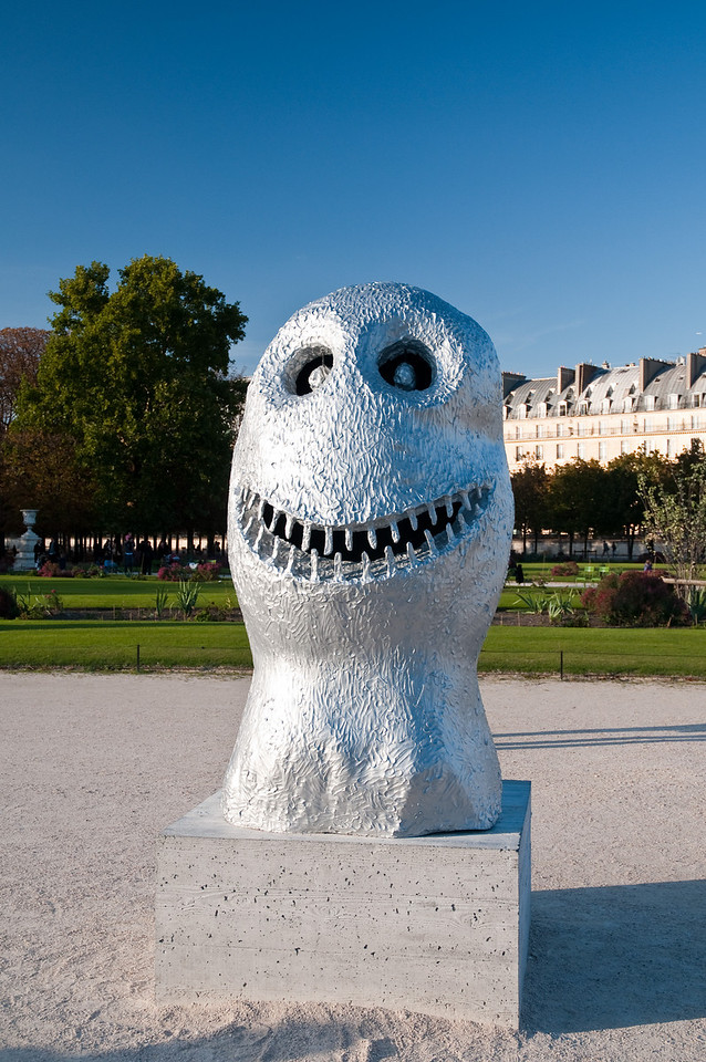 Temporary exhibition of modern art sculptures in the tuileries gardens. Paris, France.