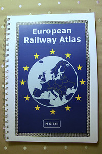 European Rail Atlas purchased today to assist with manoeuvres in early Summer.   Much muttering from herself.   Said I would carry it!   13th January 2014