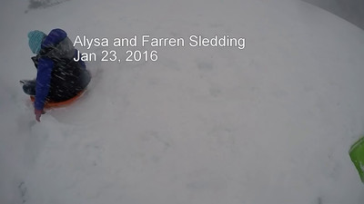 Alysa and Farren Sledding