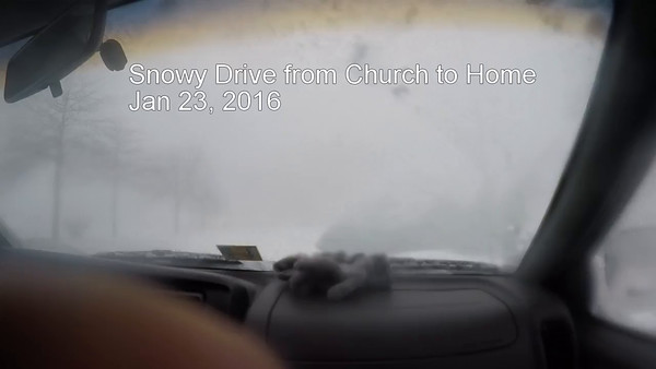 Snowy Drive from Church to Home