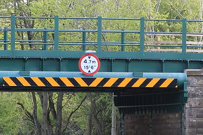 "This has been amended during the bridge works and the clearance has shrunk 3"" by comparison with the approach warning signage"