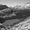"Lake O'Hara, Yoho National Park, Canadian Rockies (used ""gray scale"" feature in Photoshop Elements 7)"
