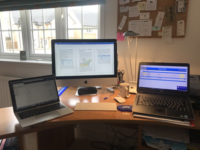 A three screen workstation.  That was a while ago now.