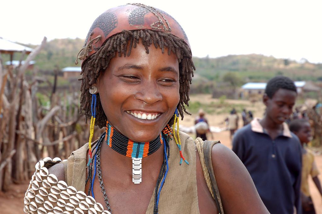 "Tsmai woman, Omo Valley<a href=""http://happytramp.smugmug.com/gallery/1452255"">Click here for a short slide show on the Hamer</a>."