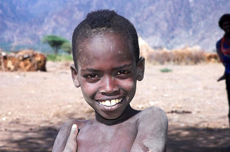 Tribal boy Omo Valley