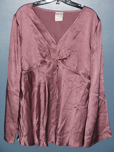 Motherhood silk blouse Size L $10