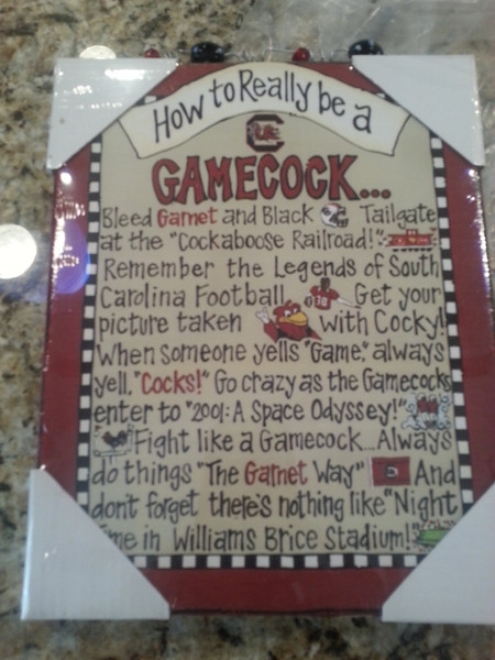 Gamecock sign for Jamie - $5