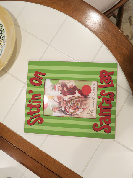 Wooden santa frame for kelley to keep