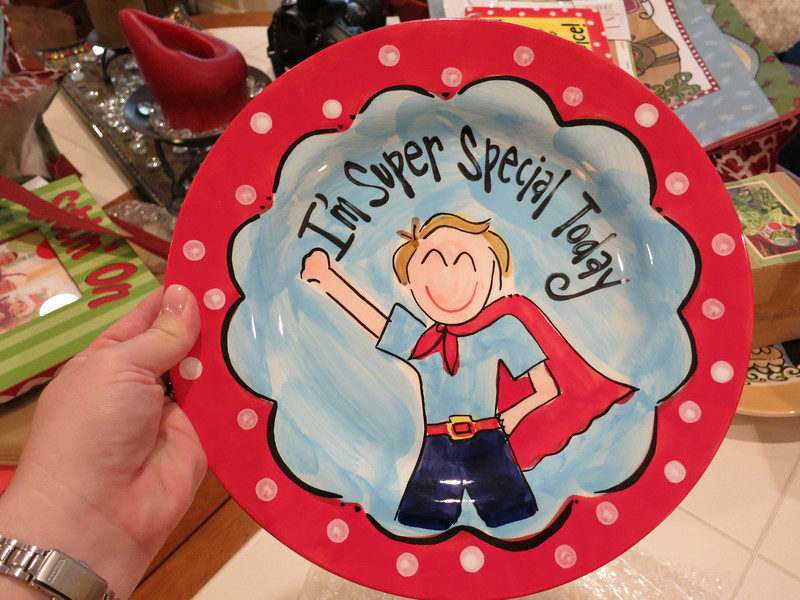 Boy ceramic plate for Kelley to gift