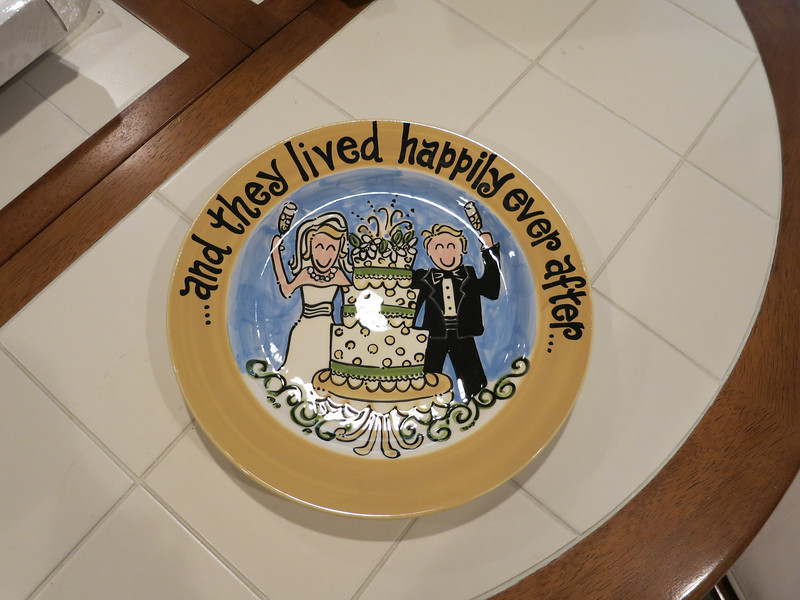 Ceramic wedding plate for Jules to gift