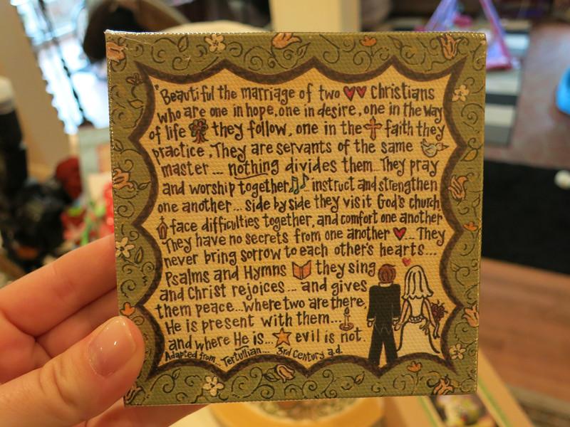 Wedding magnet for Julie to gift