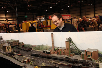Dapper Durham Dave with his Dad's colliery layout.  Smart.  The layout, obviously.