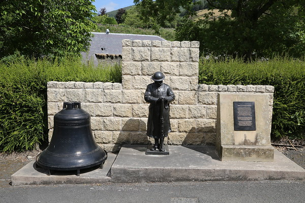 Walkerburn - The Mill Bell and the original War Memorial soldier