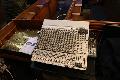 They said an idiot could work this mixing desk.   I proved the theory last Sunday.