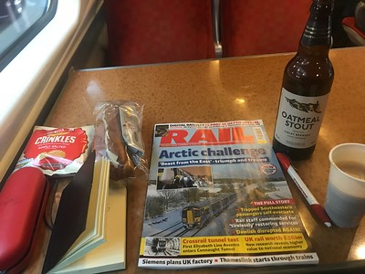 Beer, nosh and Rail on a train. What's not to like?