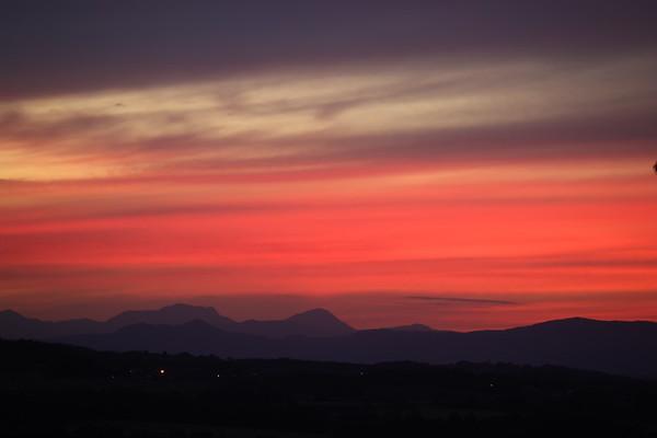 Sunset over Broxburn from Ratho 29th July 2020