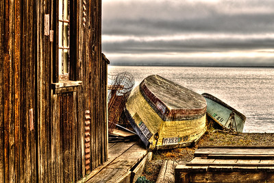 Skiffs: a high dynamic range image at China Camp State Park, San Rafael (Marin County), California.