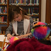 HOLLY PELCZYNSKI - BENNINGTON BANNER Evalyin Lofaro 7 years old of North Bennington writes instructions for her stuffed animal before leaving it at The John G. McCullough Free Library  for a stuffed animal sleepover. Children leave their stuffed animal at the library and gets them back the following morning during breakfast at Powers Market for breakfast and watch a preview of what their stuffed animal did at the sleepover.