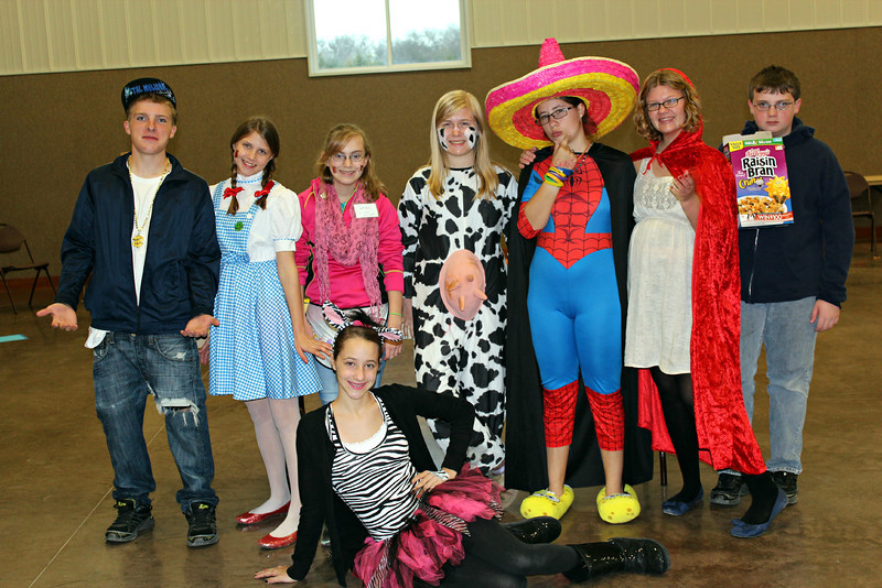 Stull UMC Youth in charge of Trunk or Treat and games