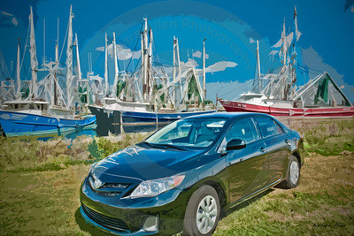 Corolla with it's beautiful lines are right at home with our signature shrimp boats.  Can't you just taste those succulent shrimp now?  If you need great value in a car loaded with extras, Corolla is your car.  Oh what a feelin!   When you think Toyota, think Allen Toyota!!
