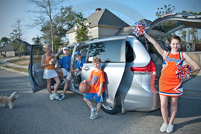 The stylish Sienna gets this family from sport to sport on Saturday and takes Mom and Dad to their Mardis Gras Ball at night.   I love what you do for me!!  When you think Toyota, think Allen Toyota.