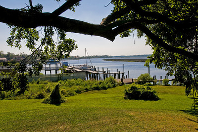 View of Back Bay in Ocean Springs from Aunt Jenny's backyard.