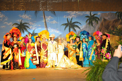 The Royal Court of Les Cavaliers.  They did a tropical there this year.