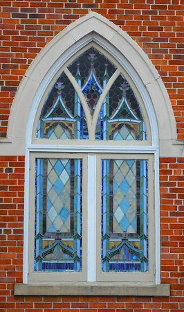 A Methodist Church window.