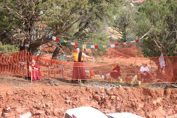 Amitabha Stupa Construction