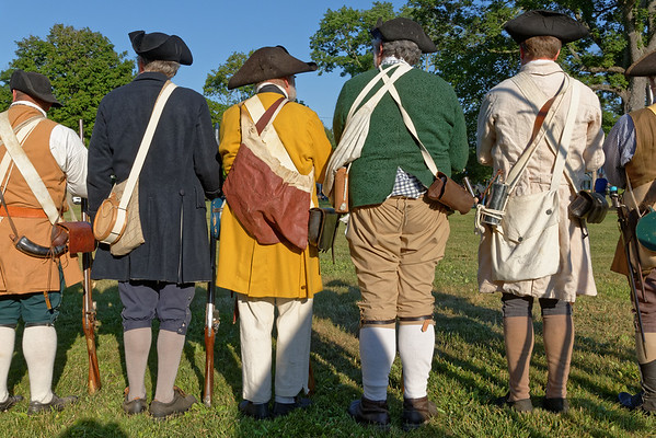 On the evening of June 24, 2016, the Sturbridge Militia held their 20th annual Muster and Drill on the historic Sturbridge Common. The militia men drilled parade and battle formations and demonstrated musket firing much to the delight of the crowd. Period music was provided by the Yalesville, CT Ancients fife and drum corp.