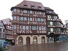 The town of Mosbach, famous for its Fachwerk (traditional half-timber framed houses).