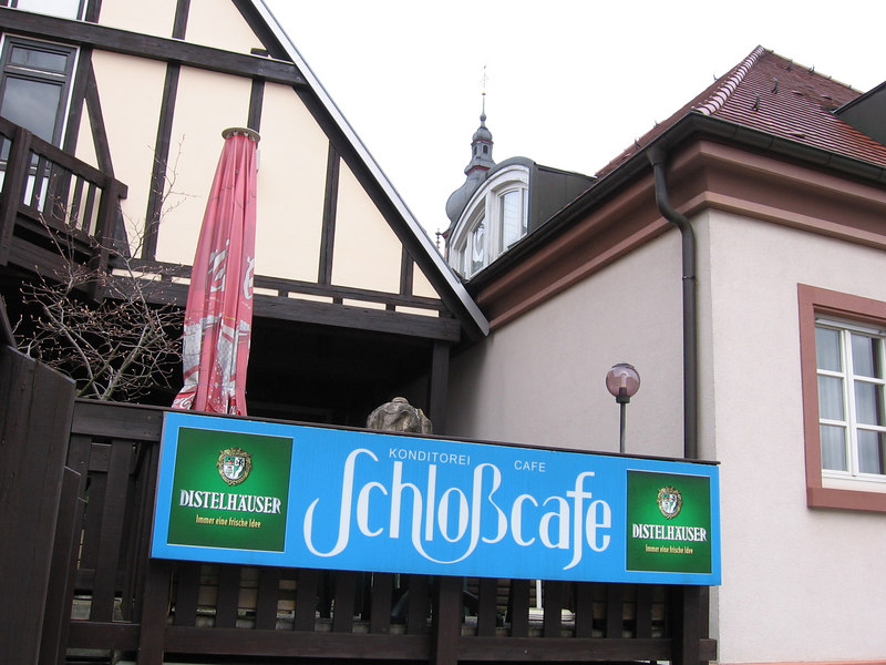 Tauberbischofsheim.  Good old Schloßcafe.  Great for cakes, beer and skipping school.