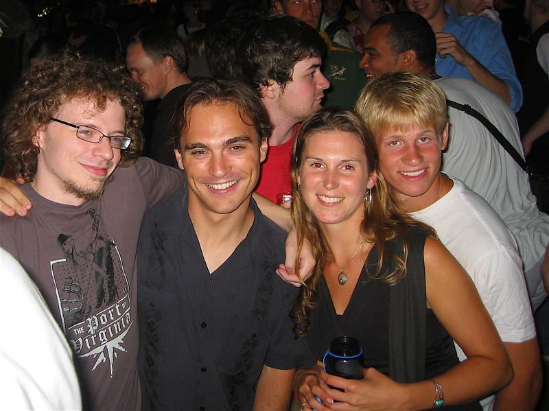 Allmandring Open-air: Eric (Tenn), Isaac (Tex), Me, DJ (Conn)