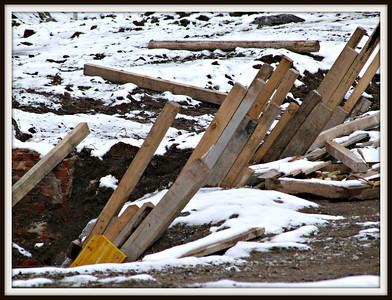 Rest der zerstörten ehemaligen Bahndirektion (28.01.2013)
