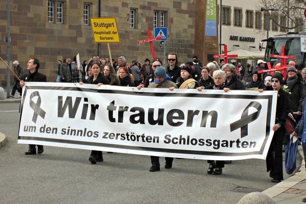 K21-Trauermarsch in Stuttgart (10.03.2012)