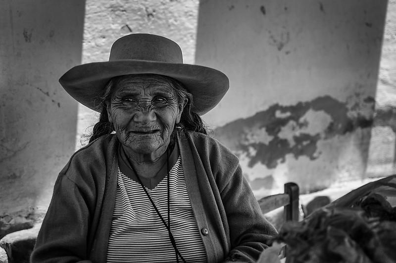 Coca leaf seller