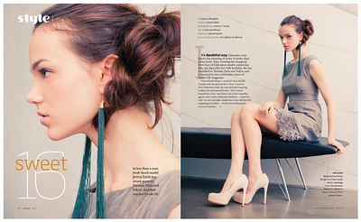 Jenna Earle fashion spread for Avenue.