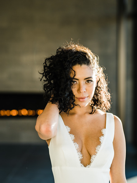 curly hairstyles for the everyday bride   Kristen Kay Photography   editorial bridal gowns