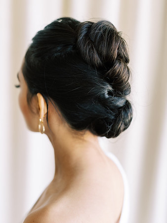 faux mohawk twisted updo for long hair - RUBY FINCH - Las Vegas hair and makeup artists - KRISTEN KAY PHOTOGRAPHY - Las Vegas Elopement Photographer - #mohawk #updo #bridal #hairstyles #longhair