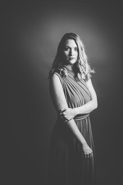 Green Dress 009bw - Nicole Marie Photography