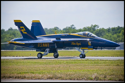 Taxiing Blue Angel