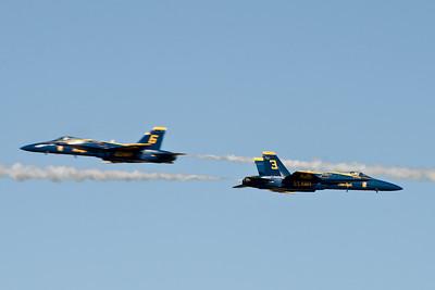 Speeding Blue Angels