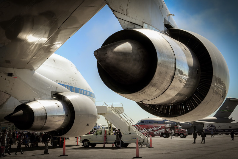 NASA 747 Turbofans