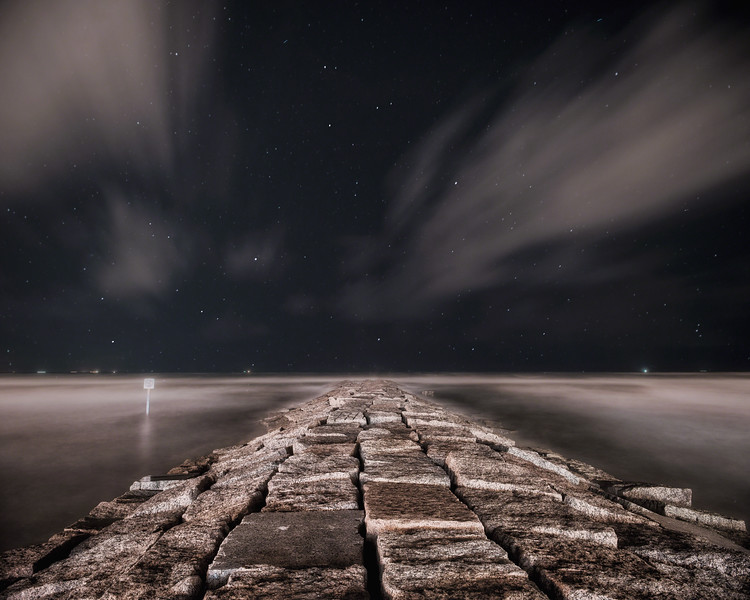 Seawall Night Sky