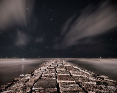 Seawall Night Sky
