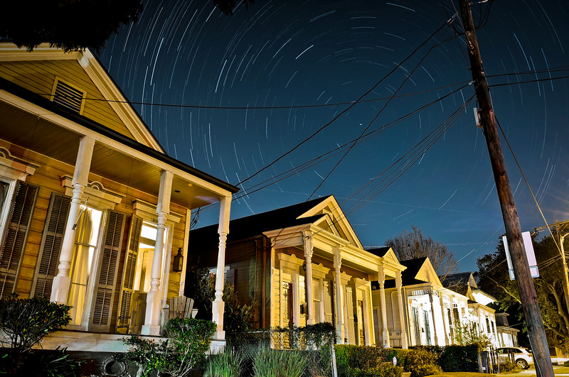 New Orleans Star Trails