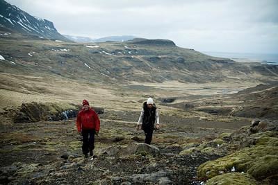 Strunsað upp hjallana að Rjómafossi.