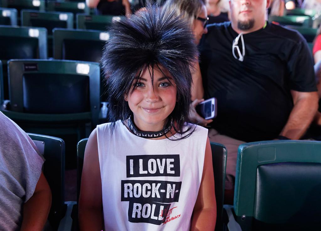 . Joan Jett & The Blackhearts live at DTE on 7-6-2018. Photo credit: Ken Settle