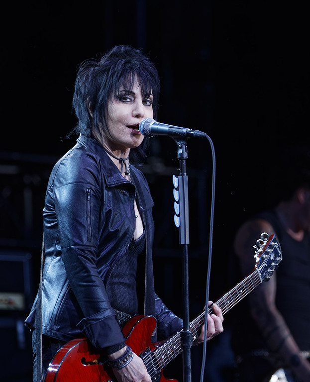 . Joan Jett & The Blackhearts live at DTE on 7-6-2018. Photo credit: Ken Settle